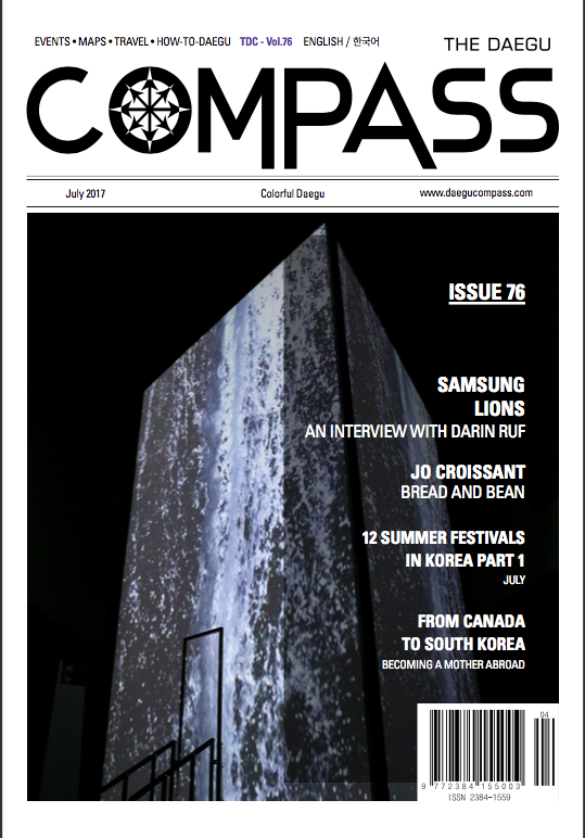 Magazine Cover of Daegu Compass' interview with Darin Ruf.