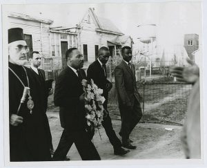 MLK walking through Selma